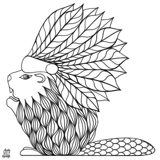 coloriage-hector-le-castor-illustration-aude-villerouge