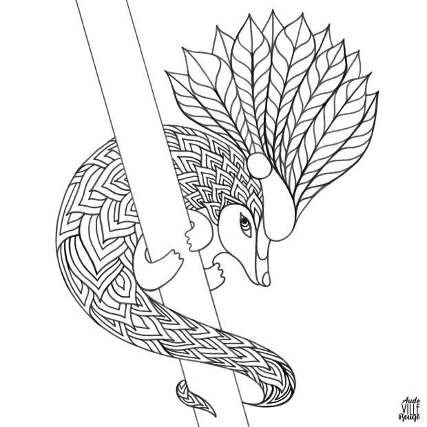 coloriage-ugolin-le-pangolin-illustration-aude-villerouge