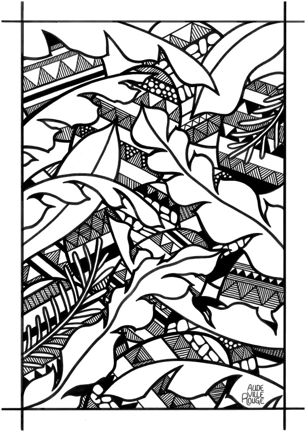 coloriage-13-oeufs-de-pâques-jungle-illustration-aude-villerouge