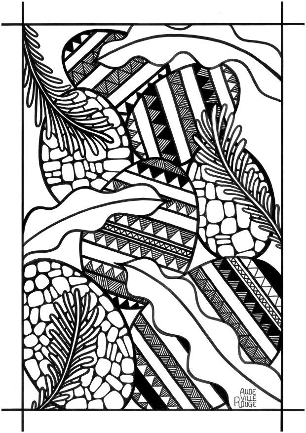 coloriage-7-oeufs-de-pâques-jungle-illustration-aude-villerouge