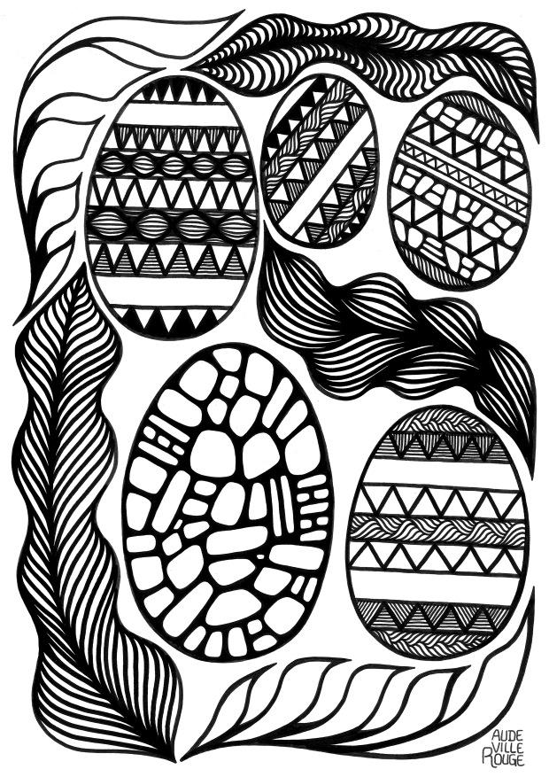 coloriage-oeufs-de-pâques-illustration-aude-villerouge