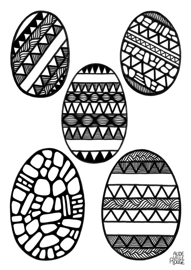 coloriage-oeufs-de-pâques-illustration-à-découper-aude-villerouge
