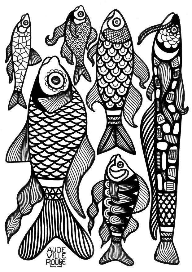 coloriage-poissons-d-avril-illustration-aude-villerouge